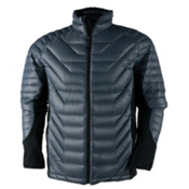 Obermeyer Kinetic Down Hybrid Mens Insulated Ski Jacket, Graphite, medium