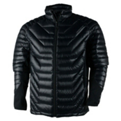 Obermeyer Kinetic Down Hybrid Mens Insulated Ski Jacket, Black, medium