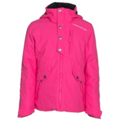 Obermeyer Kenzie Teen Girls Ski Jacket, Electric Pink, medium