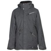 Obermeyer June Teen Girls Ski Jacket, Light Heather Gray, medium