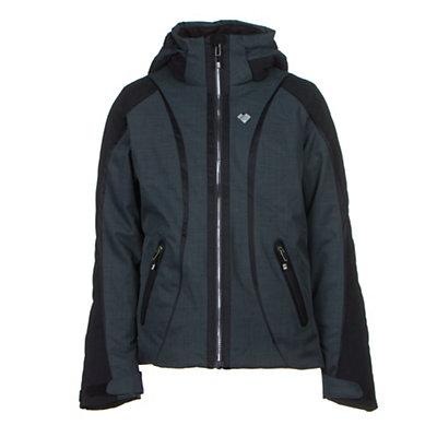 Obermeyer Dyna Teen Girls Ski Jacket, Marble Grey, viewer