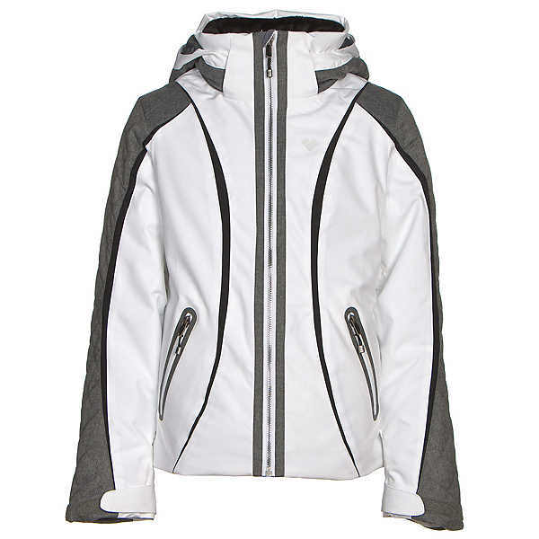 Obermeyer Dyna Teen Girls Ski Jacket, White, 600