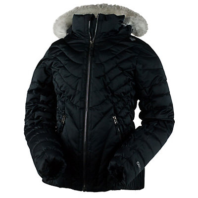 Obermeyer Aisha Girls Ski Jacket, Black, viewer