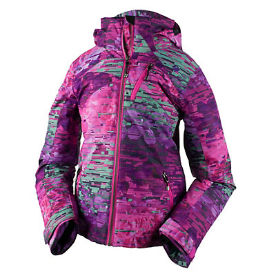 Obermeyer Tabor Print Teen Girls Ski Jacket, Digi Floral, viewer