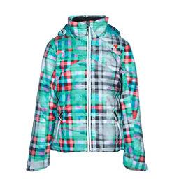 Obermeyer Tabor Print Teen Girls Ski Jacket, Plaid Haze, 256