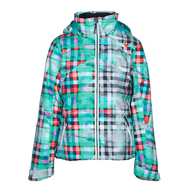 Obermeyer Tabor Print Teen Girls Ski Jacket, Digi Floral, viewer