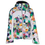 Obermeyer Tabor Print Teen Girls Ski Jacket, Chevron Floral, medium