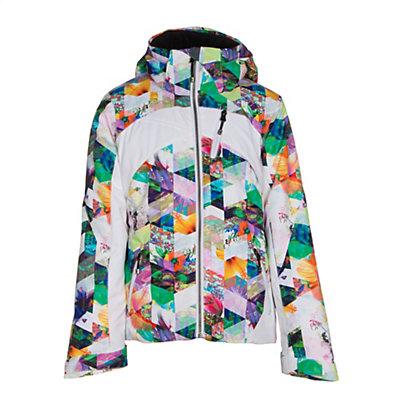 Obermeyer Tabor Print Girls Ski Jacket, Digi Floral, viewer