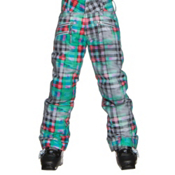 Obermeyer Jessi Teen Girls Ski Pants, Plaid Haze, medium