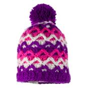 Obermeyer Averee Knit Teen Girls Hat, Violet Vibe, medium