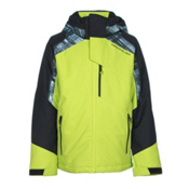 Obermeyer Outland Teen Boys Ski Jacket, Screamin Green, medium