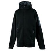 Obermeyer Match Fleece Hoodie Teen Boys Jacket, Black, medium