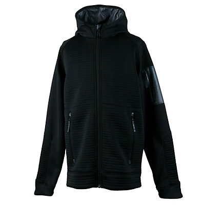 Obermeyer Match Fleece Hoodie Teen Boys Jacket, Black, viewer