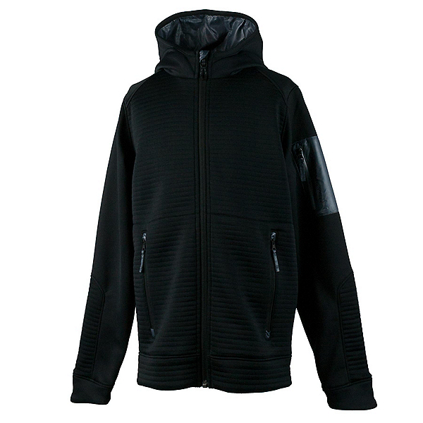 Obermeyer Match Fleece Hoodie Teen Boys Jacket, Black, 600