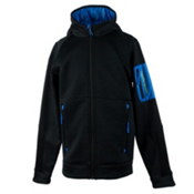 Obermeyer Match Fleece Hoodie Boys Jacket, Stellar Blue, medium