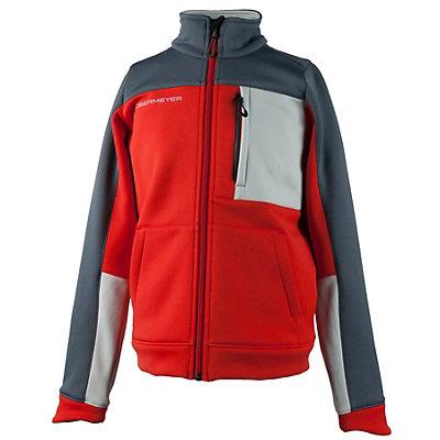 Obermeyer Rev Fleece Teen Boys Jacket, Red, viewer