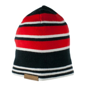 Obermeyer Traverse Knit Teen Boys Hat, Red, medium