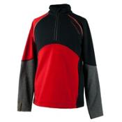 Obermeyer Transport Tech Teen Boys Long Underwear Top, Red, medium