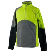 Obermeyer Transport Tech Teen Boys Long Underwear Top, Screamin Green, medium