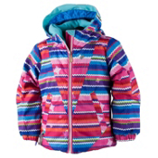 Obermeyer Ashlyn Toddler Girls Ski Jacket, Scribble Stripe, medium