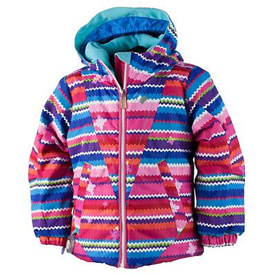 Obermeyer Ashlyn Toddler Girls Ski Jacket, Scribble Stripe, viewer