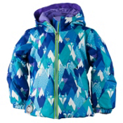 Obermeyer Ashlyn Toddler Girls Ski Jacket, Blue Mountains, medium