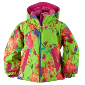 Obermeyer Ashlyn Toddler Girls Ski Jacket, Flower Burst, medium