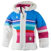 Obermeyer Snowdrop Faux Fur Toddler Girls Ski Jacket, White, medium