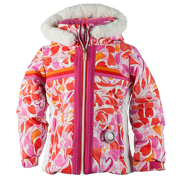 Obermeyer Snowdrop Faux Fur Toddler Girls Ski Jacket, , 600