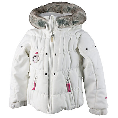 Obermeyer Juniper Toddler Girls Ski Jacket, White, viewer