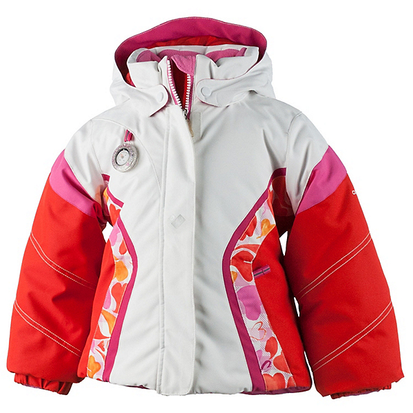 Obermeyer Aria Toddler Girls Ski Jacket, White, 600