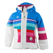 Obermeyer Snowdrop Toddler Girls Ski Jacket, White, medium