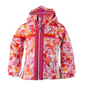 Obermeyer Snowdrop Toddler Girls Ski Jacket, Heart Gingham, medium