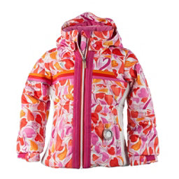 Obermeyer Snowdrop Toddler Girls Ski Jacket, Heart Gingham, 256