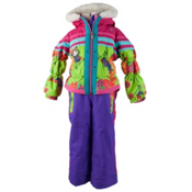 Obermeyer Skitter Toddler Girls One Piece Ski Suit, Flower Burst, medium