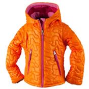 Obermeyer Comfy Toddler Girls Ski Jacket, Tangerine, medium