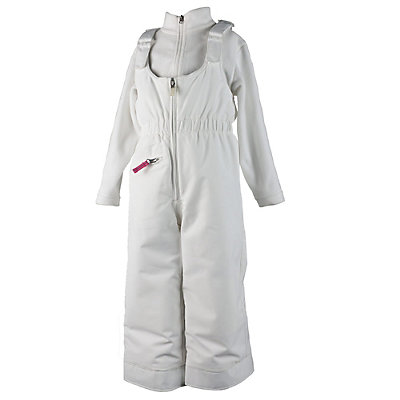 Obermeyer Snoverall Toddler Girls Ski Pants, White, viewer