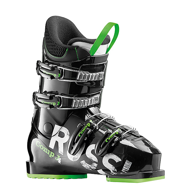 Rossignol Comp J4 Kids Ski Boots 2017, Black-Green, 600