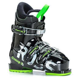 Rossignol Comp J3 Kids Ski Boots 2017, Black-Green, 256