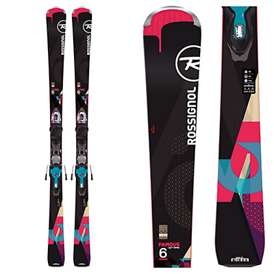 Rossignol Famous 6 Womens Skis with Xpress 11 Bindings 2017, , viewer