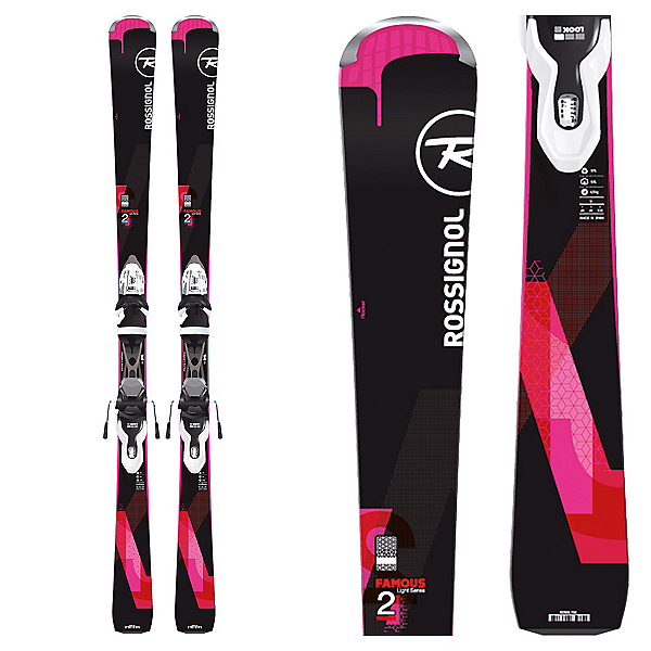 Rossignol Famous 2 Womens Skis with Xpress 10 Bindings 2017, , 600