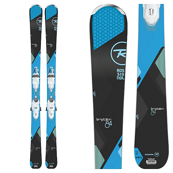 Rossignol Temptation 84 Womens Skis with Xpress 11 Bindings 2017, , 600