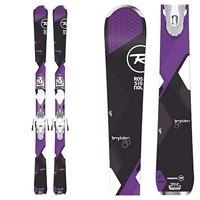 Rossignol Temptation 80 Womens Skis with Xpress 11 Bindings 2017, , viewer