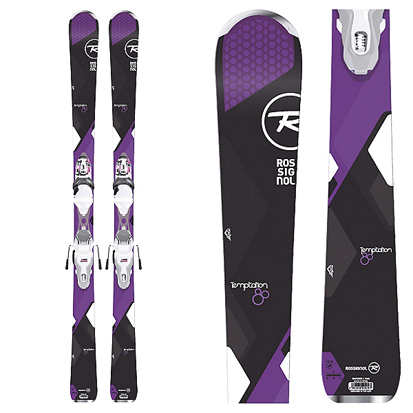 Rossignol Temptation 80 Womens Skis with Xpress 11 Bindings 2017, , 600