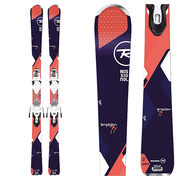 Rossignol Temptation 77 Womens Skis with Xpress 10 Bindings, , 600