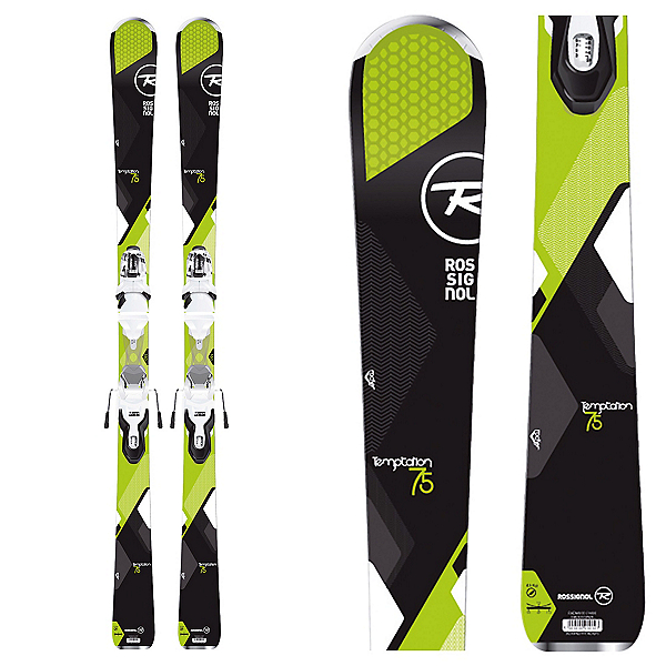 Rossignol Temptation 75 Womens Skis with Xpress 10 Bindings 2017, , 600