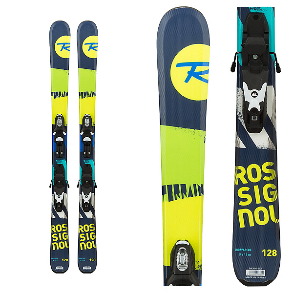 Rossignol Terrain Baby Boy Kids Skis with Kid X 4 Bindings 2017, , 600
