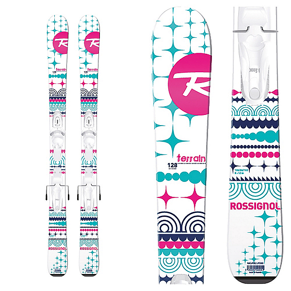 Rossignol Terrain Girl Kids Skis with Xpress 7 Bindings 2017, , 600