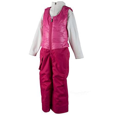 Obermeyer Chacha Toddler Girls Ski Bib, Glamour Pink, viewer
