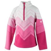 Obermeyer Zig Fleece Kids Midlayer, Glamour Pink, medium